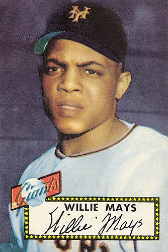 The Rookie Card Of Greatest Living Ball Playerthe Say Hey Kid