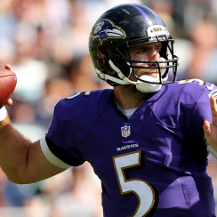 Baltimore Ravens quarterback Joe Flacco.