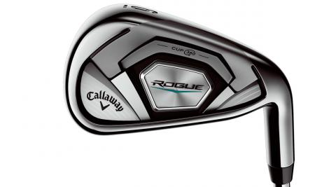 Tungsten weighting in the Callaway Rogue irons yields precise CG locations for optimum launch and control.