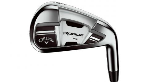 Urethane microspheres on the Callaway Rogue Pro iron greatly enhance sound and feel at impact.