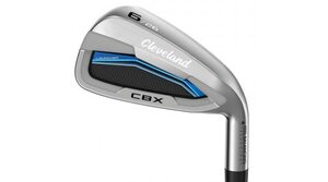 Progressive V soles throughout the Cleveland Launcher CBX set improve turf interaction for each club.