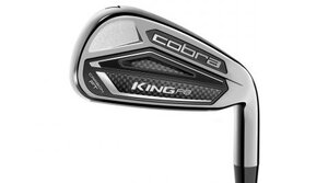 A multimaterial carbon-fiber medallion on the Cobra King F8 irons greatly improves sound and feel.