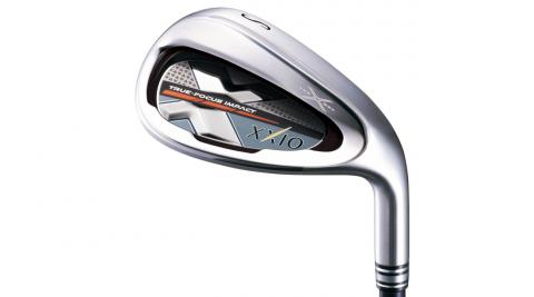 Tungsten-nickel sole weights on the XXIO X irons are positioned as low as possible for higher launch angles.