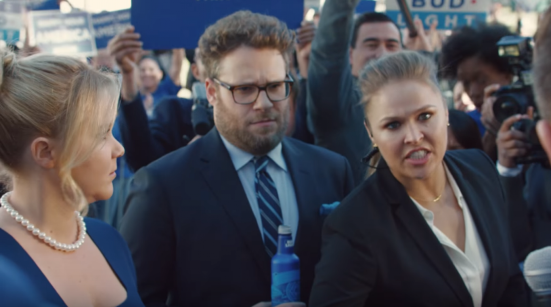 Ronda rousey in bud light super bowl commercial video si ronda rousey stars in a new super bowl commercial for bud light alongside seth rogen and amy schumer aloadofball Choice Image