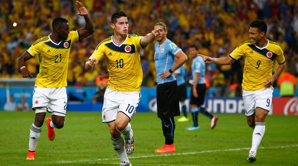 Image result for james rodriguez 2014 world cup goal