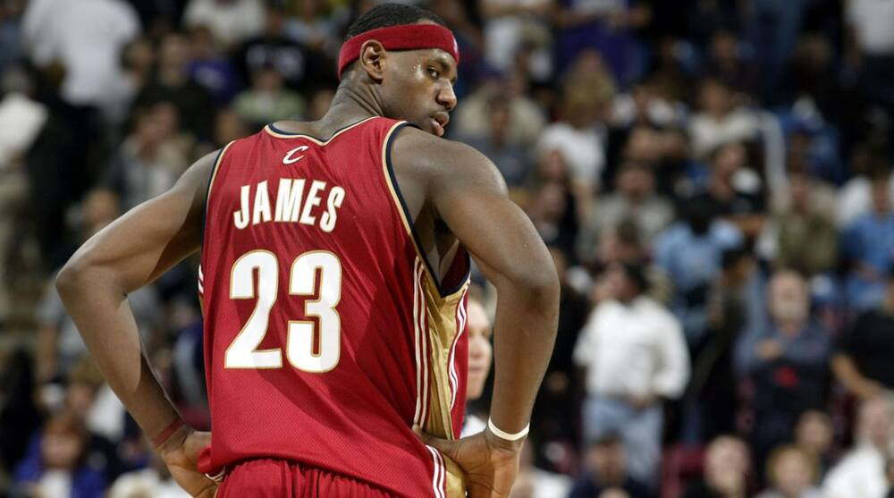 Michael Jordan  cool  with LeBron James wearing No. 23 for Cleveland ... 2f926ad47