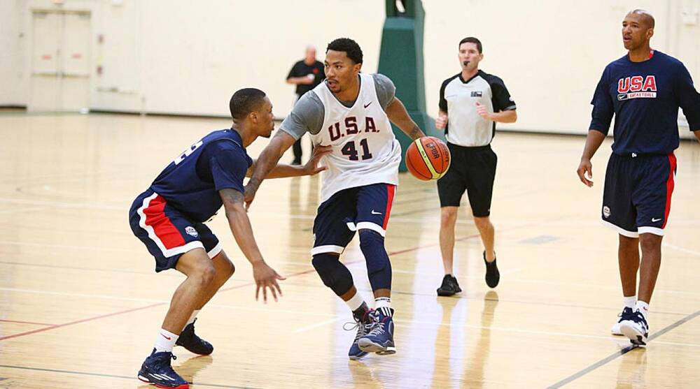 69e55893fb4 What to watch for in USA vs. Brazil  Derrick Rose comes home
