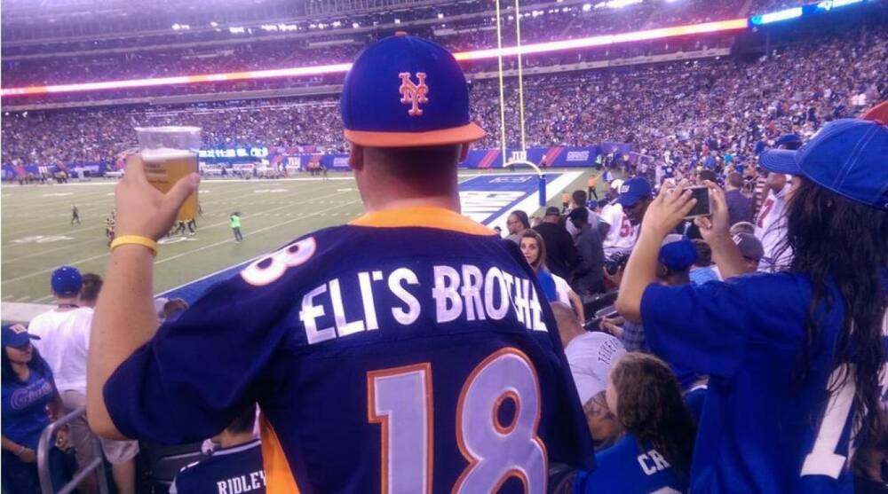 Eli s Brother  jersey worn by New York Giants to irk Peyton Manning ... bb439de80