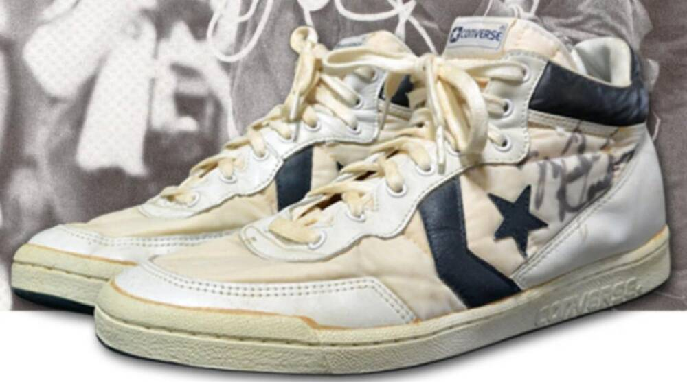 9437f5077d78 Michael Jordan s sneakers from 1984 Olympic gold medal game up for ...