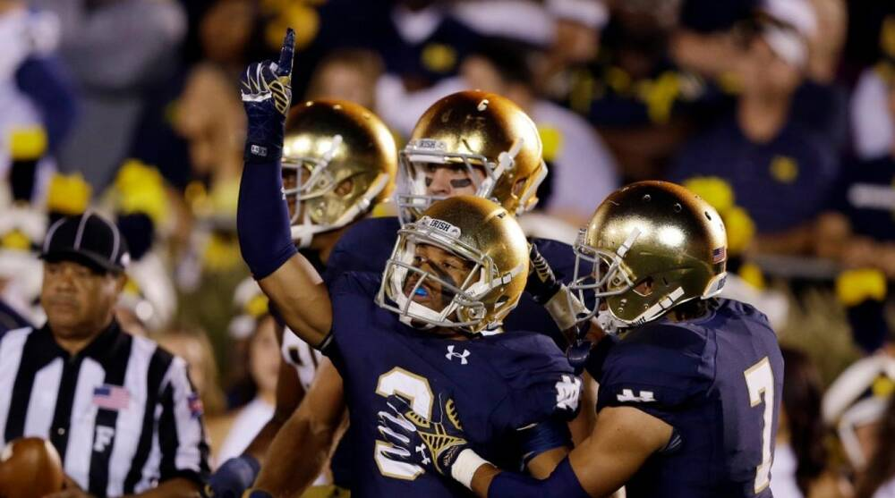 new arrival 2ac47 57836 Michael Conroy Associated Press. Notre Dame athletic director Jack  Swarbrick says that the school s shoe and apparel contract with Under Armour  ...