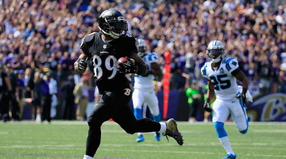 bcbe756d168c Baltimore Ravens WR Steve Smith   I ran around  Carolina Panthers ...