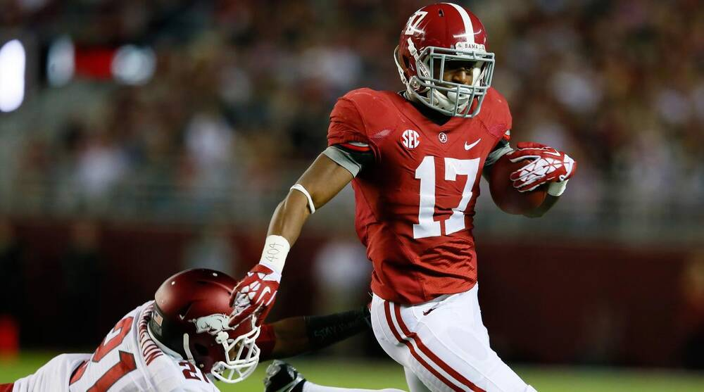 finest selection 72491 69916 Alabama RB Kenyan Drake suffers apparent lower-body injury ...