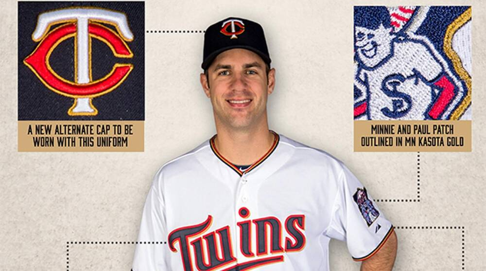 06a28381bfe Minnesota Twins unveil new primary home uniform for 2015 with gold ...