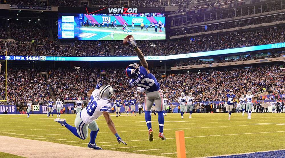 Odell Beckham S Catch Giants Cowboys Falcons Browns More