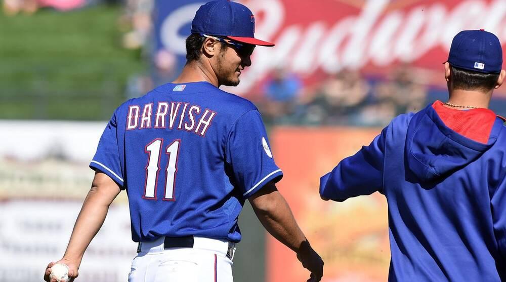 ba98ecd7a Yu Darvish injury  Rangers ace leaves start with arm tightness