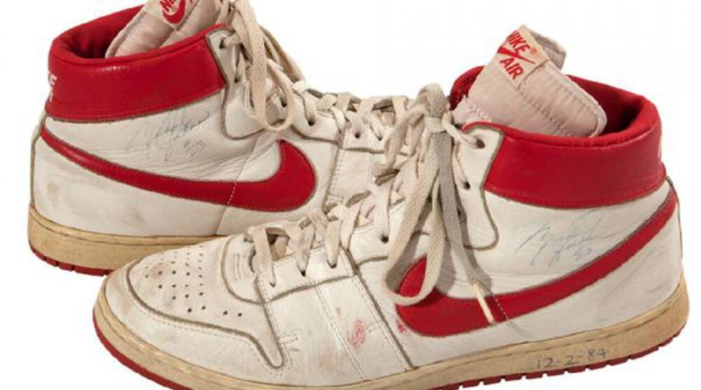 Michael Jordan sneakers  Game-worn shoes to be auctioned  12484f907