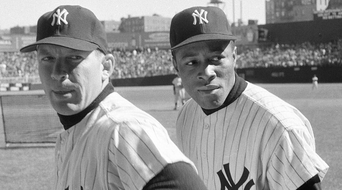Elston howard joined mickey mantle and the all white yankees in 1955 and became a