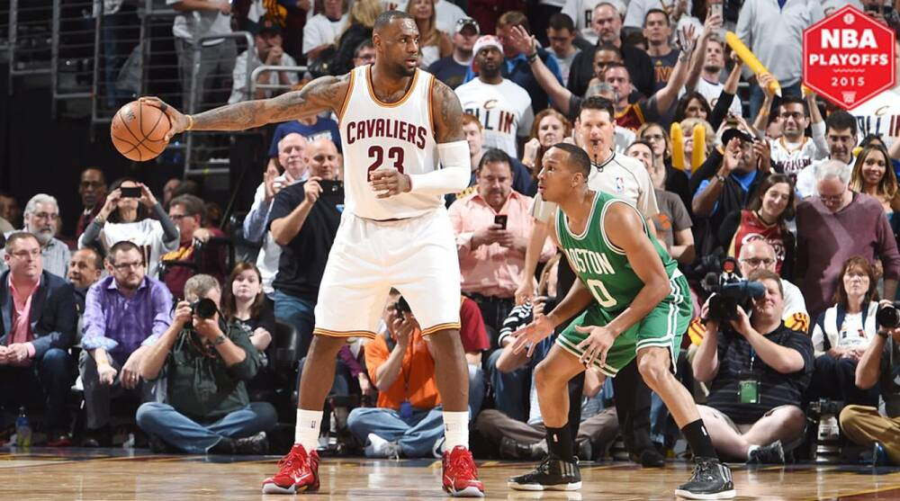 aee5ba97b LeBron James played in his first postseason game as a member of the  Cavaliers since 2010. Brian Babineau NBAE Getty Images. Kyrie Irving scored  30 points ...