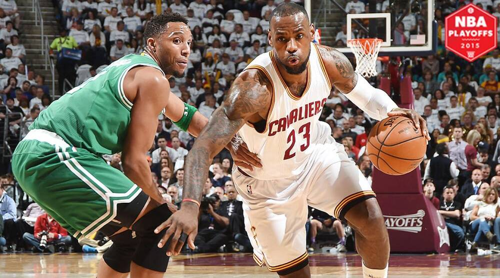 116428650bc8 LeBron James scored 15 of his 30 points in the fourth quarter against  Boston.