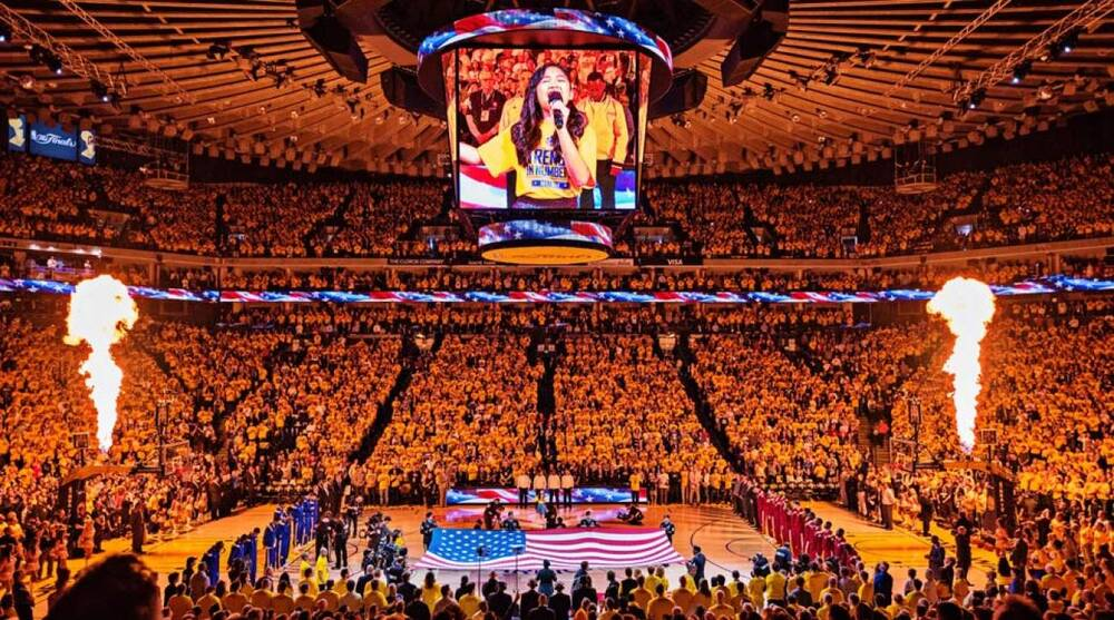 67b0a339dce0 NBA Finals  Oracle Arena brings the noise for Golden State Warriors ...