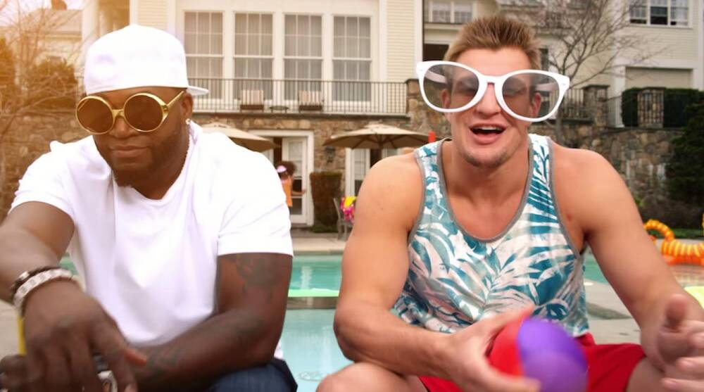 Image result for Rob Gronkowski Dunkin Donuts