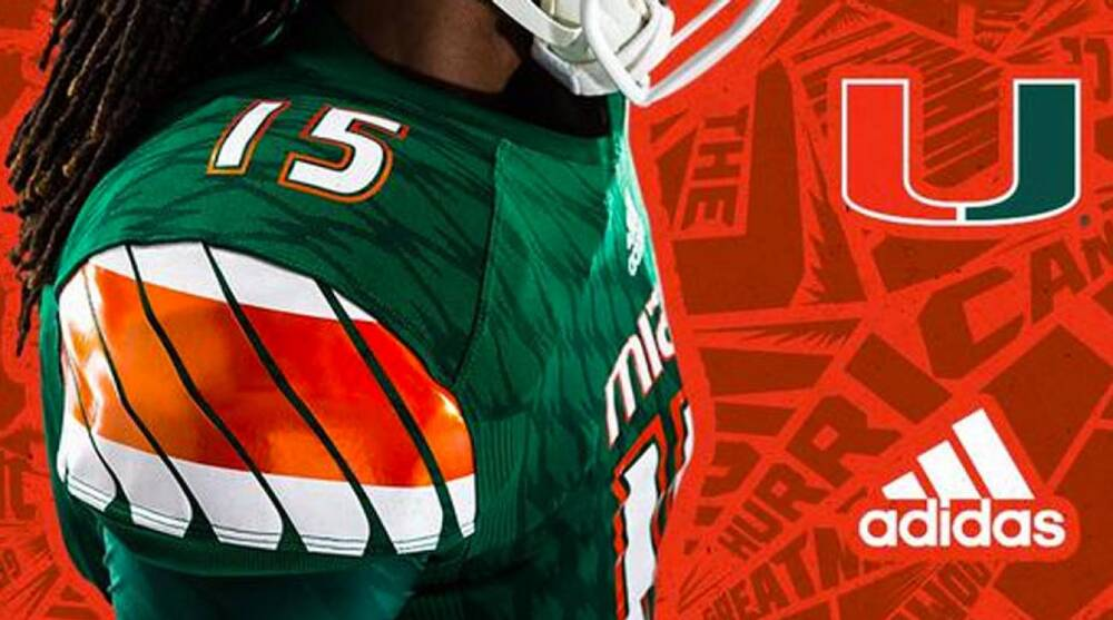 release date: 33891 926a6 Miami, Adidas release new Hurricanes football jerseys ...