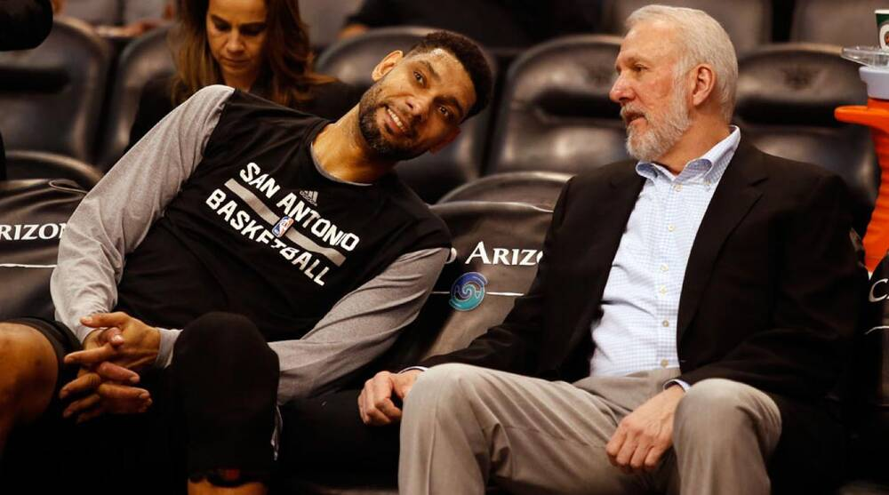 best deals on 6247a 9e5b0 San Antonio Spurs: Gregg Popovich to coach after Tim Duncan ...