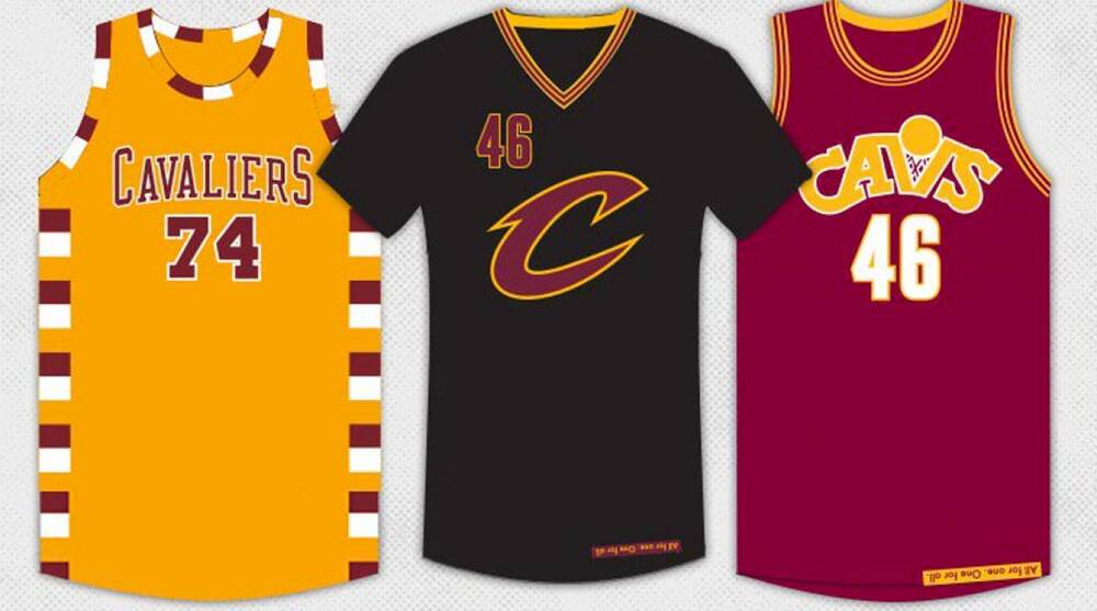 official photos fbdae 0eb71 Cleveland Cavaliers: three alternate jerseys for LeBron ...