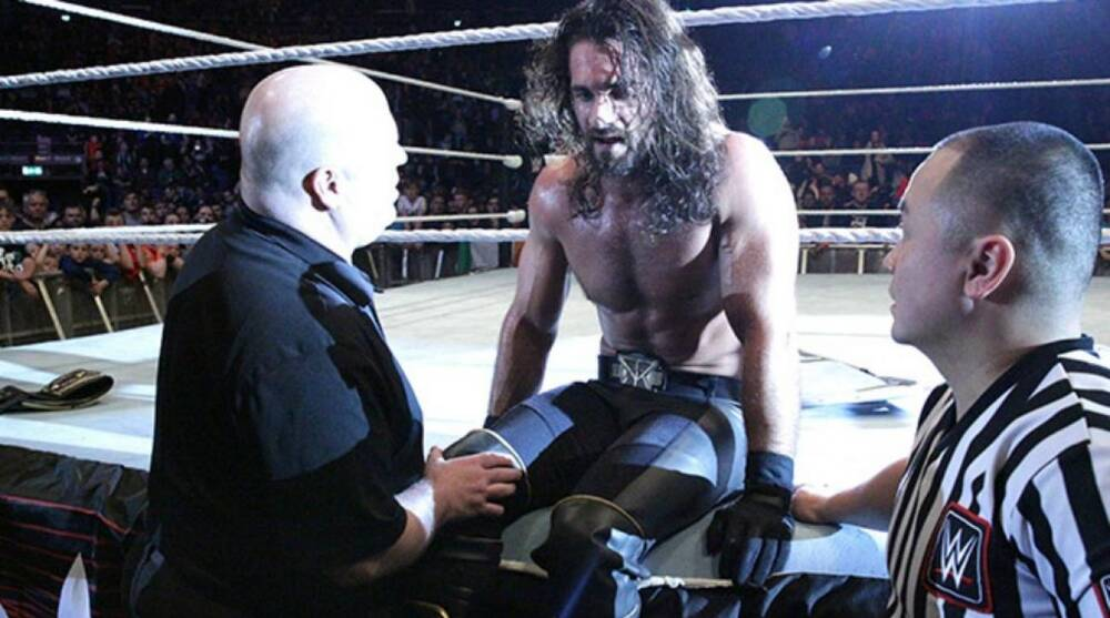 Image result for Seth Rollins knee