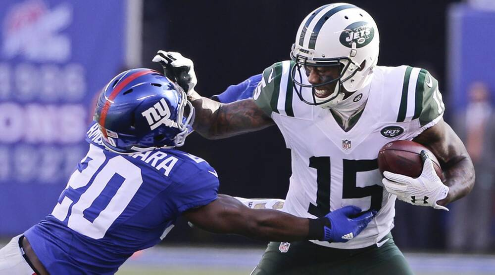 new product f2894 ea9ae Video: New York Jets tie game vs Giants on Brandon Marshall ...