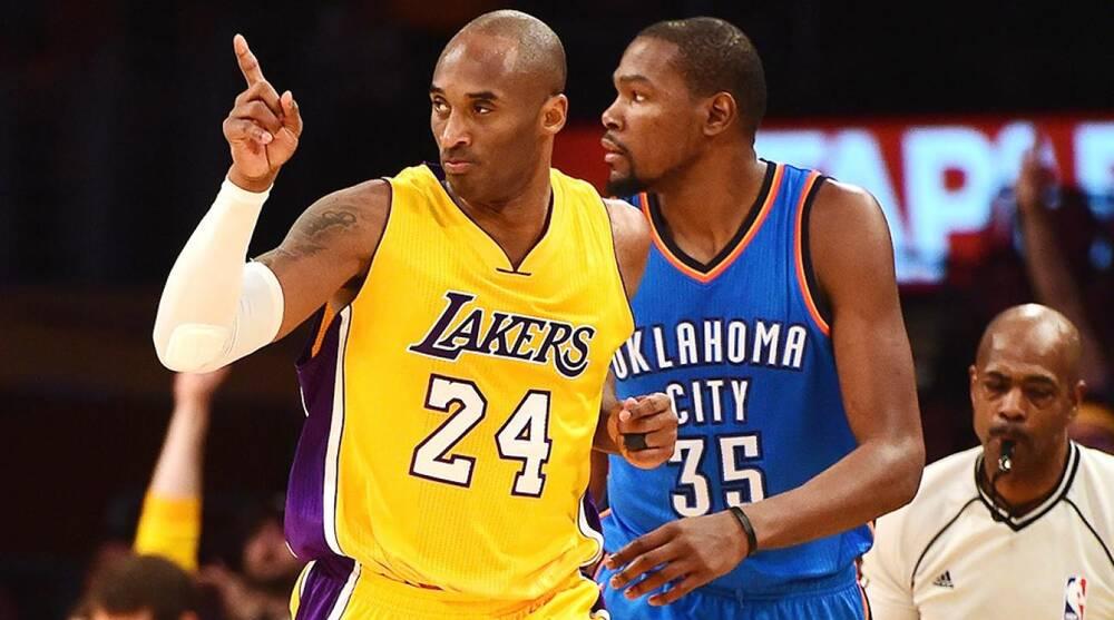 bd30ad10776b Kobe Bryant Kevin Durant shoes Lakers Thunder
