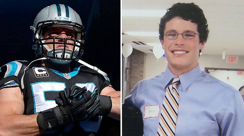 buy online 1dc6f 43131 Panthers linebacker Luke Kuechly high school life at St ...
