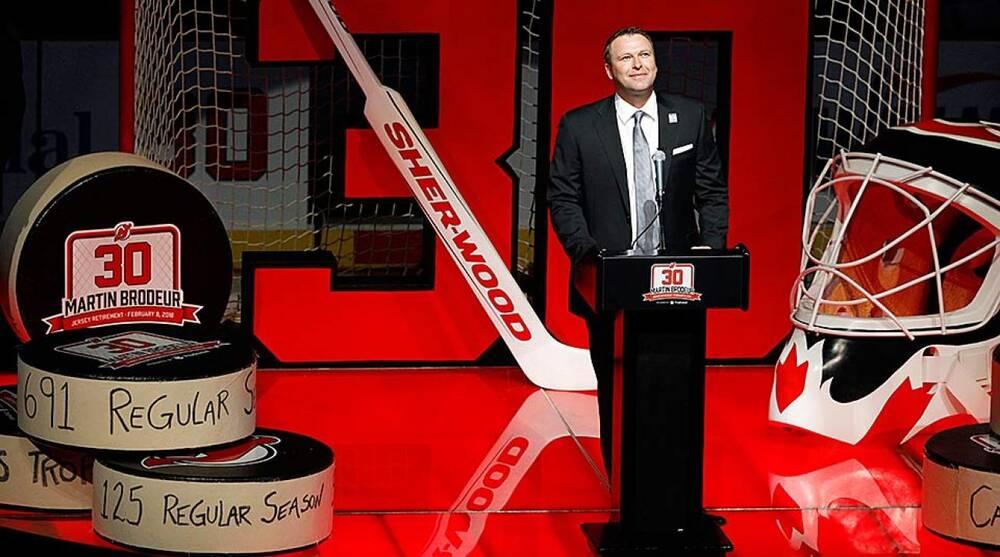 Martin Brodeur  Devils retire legendary goalie s jersey number  5e8b91c5a