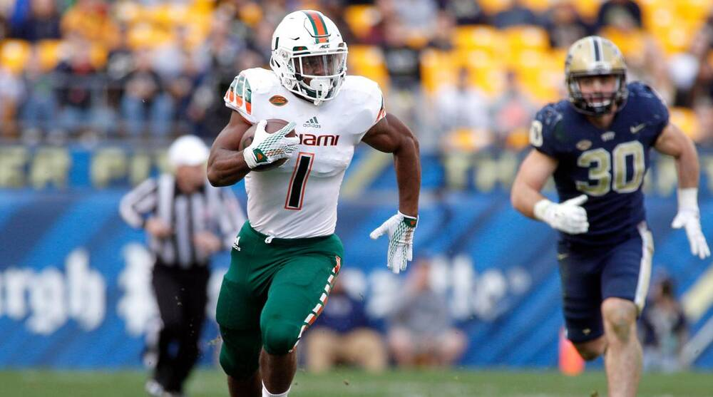 Mark Walton Miami Rb Suspended From Team Following Dui