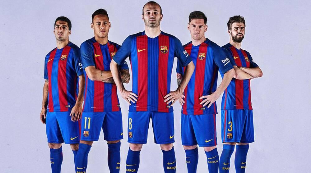 Barcelona jersey  New uniform has vertical stripes 8bd7bc5b8