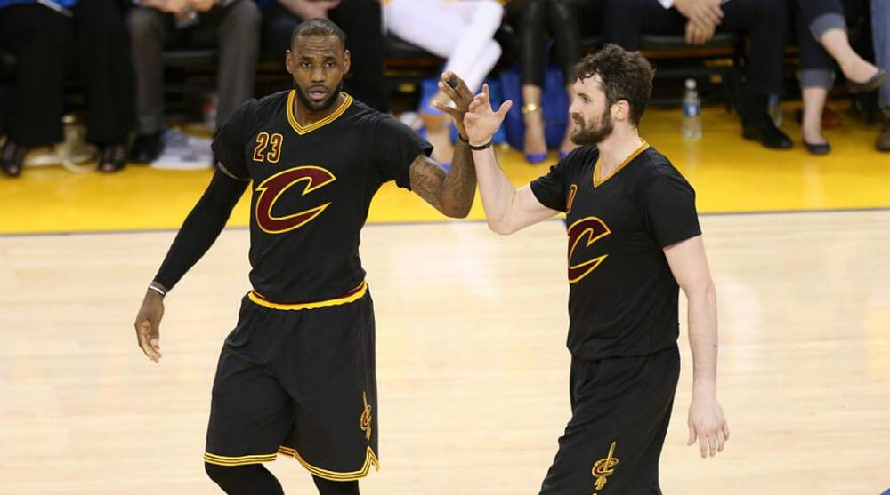 4767a45221e NBA Finals Game 7  Cavs wearing sleeved jerseys