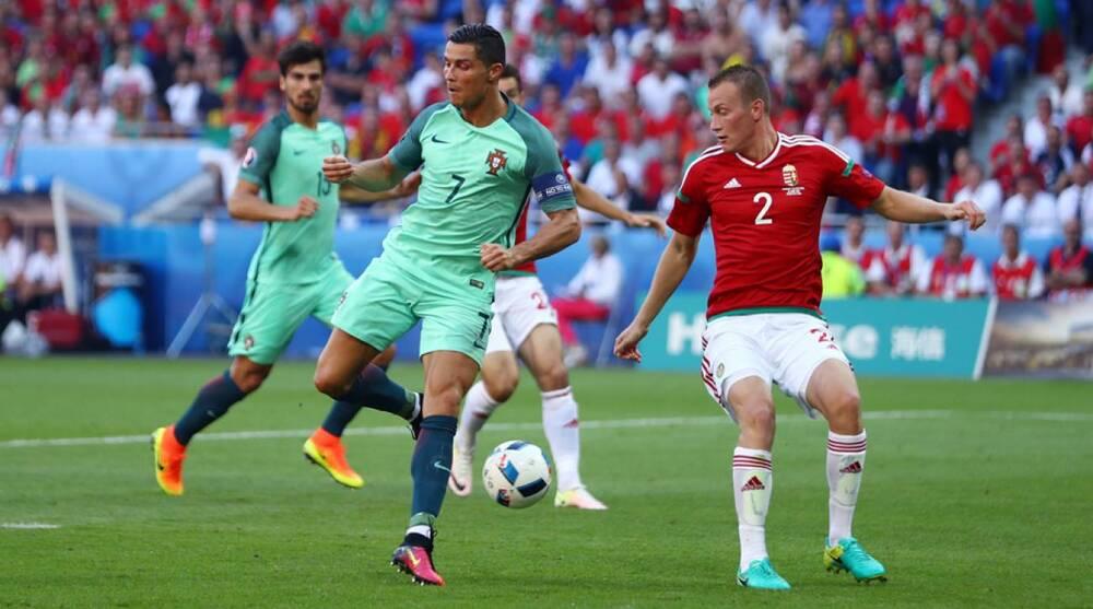 Cristiano Ronaldo scores a back-heel flick vs. Hungary in Euro 2016 f7db54a171504