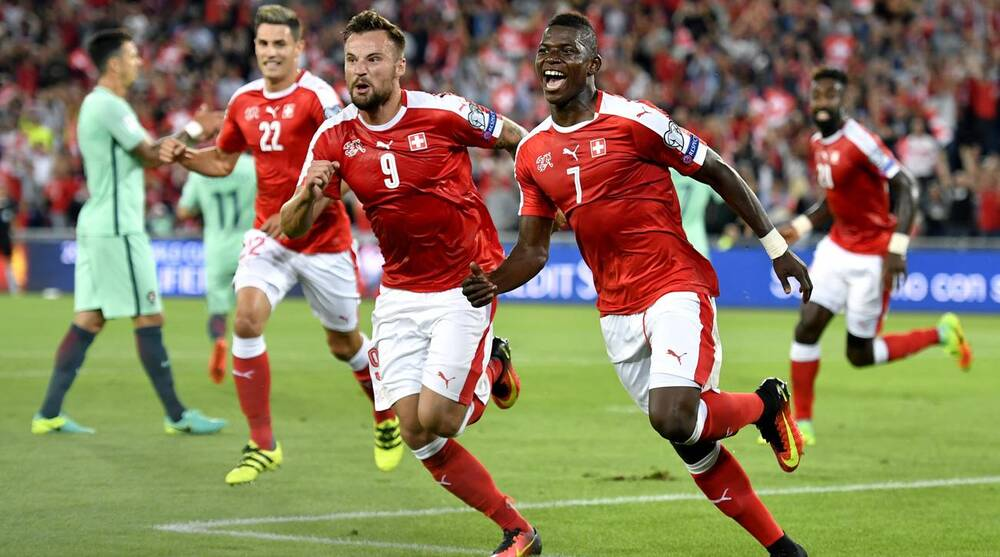 e9a04678aa World Cup qualifying  Euro champ Portugal falls to Swiss