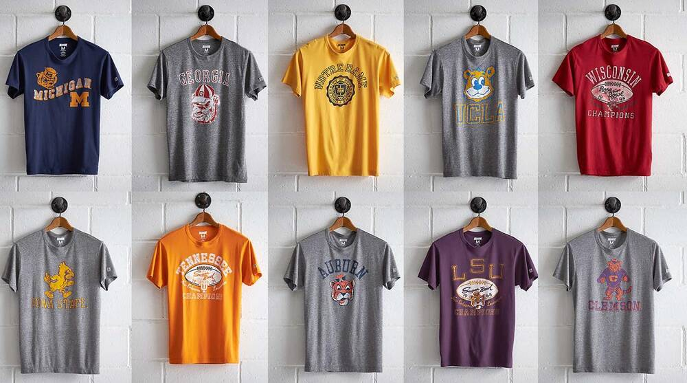 Vintage college football apparel, shirts by Tailgate   SI com