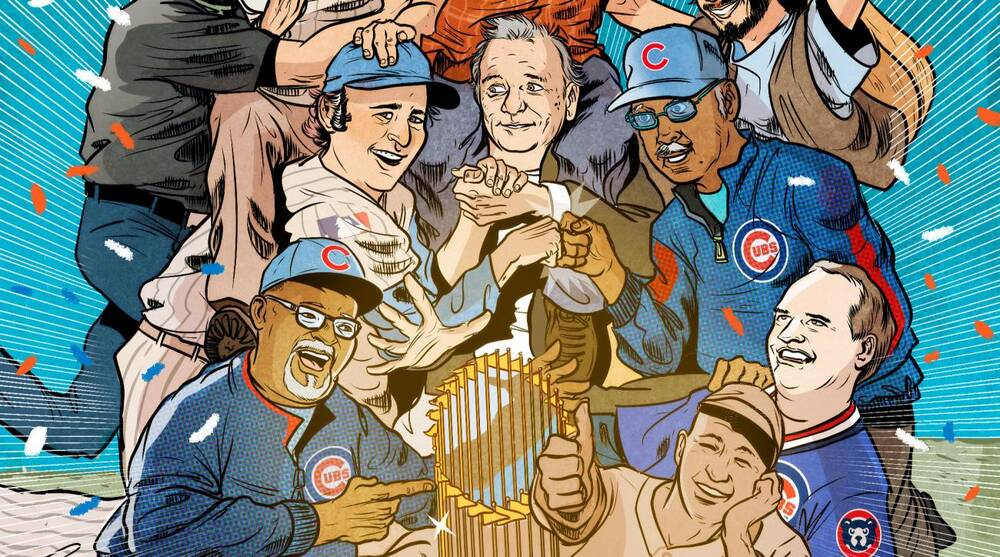 Cubs icons celebrate World Series title in SI illustration