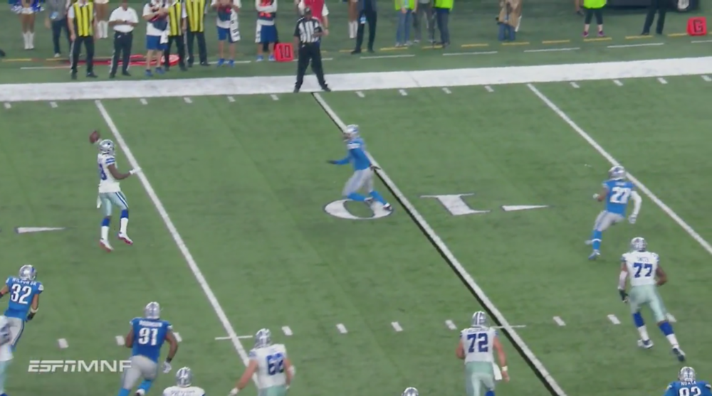 Cowboys Dez Bryant Throws Touchdown Pass To Jason Witten