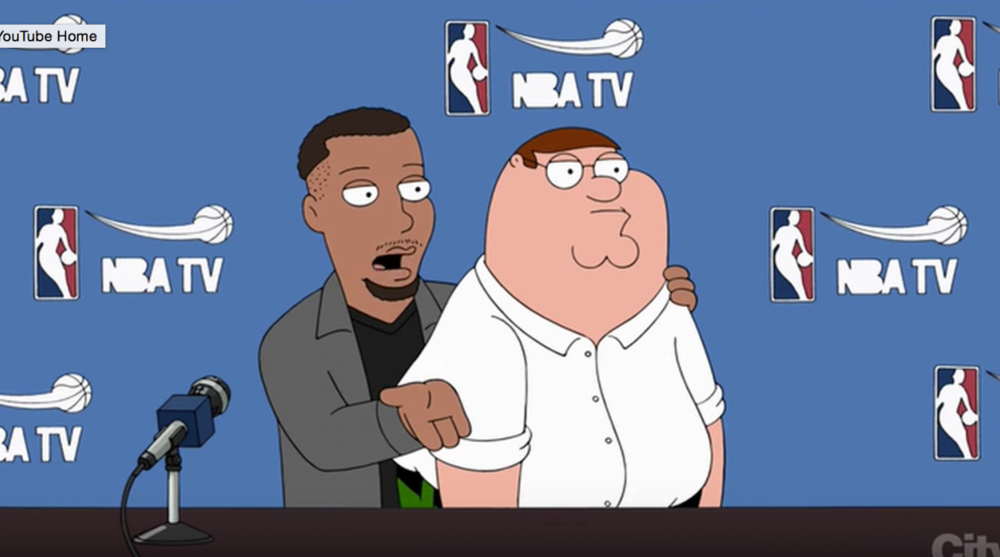 stephen curry makes cameo on family guy si com