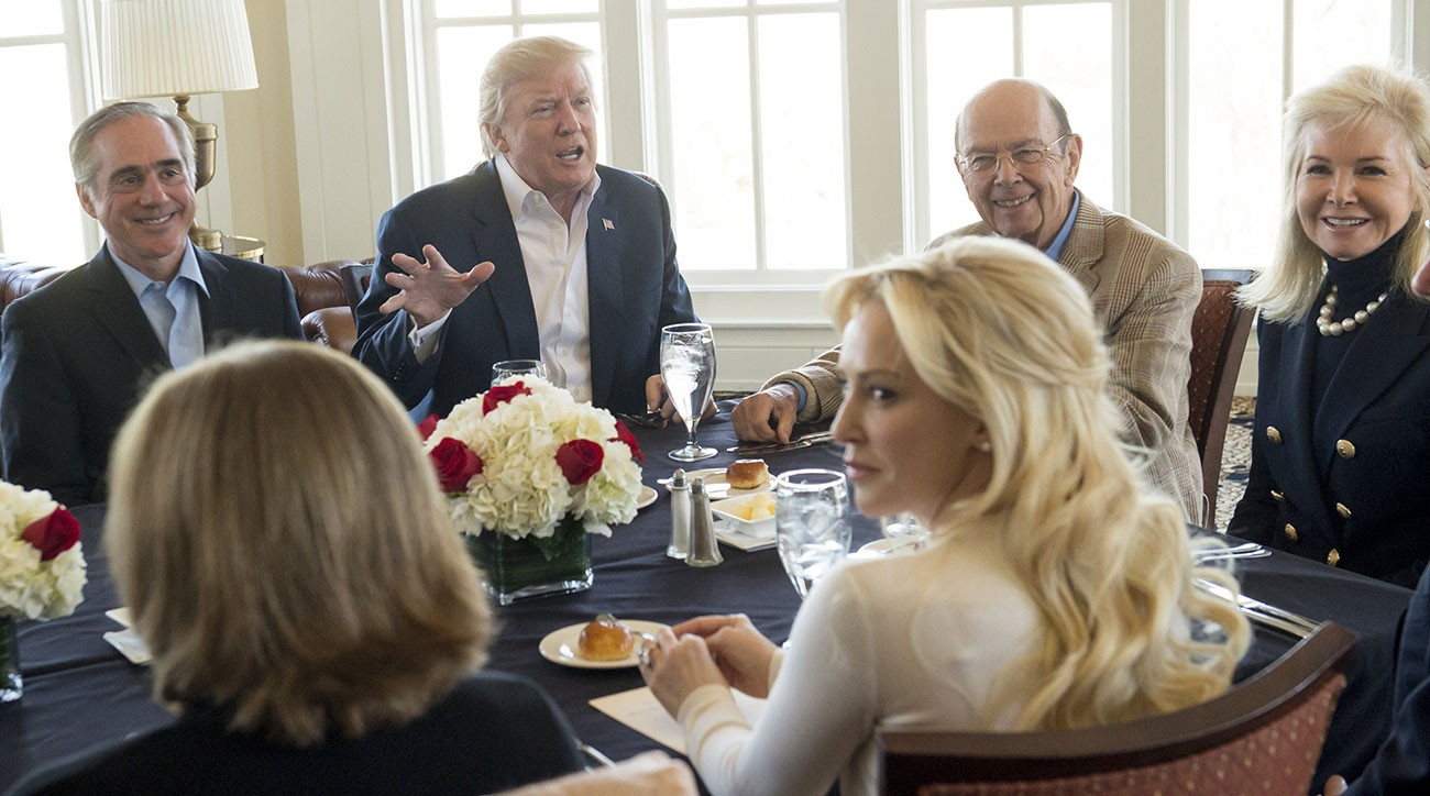 president donald trump hosted a surprise partial cabinet meeting at his club in