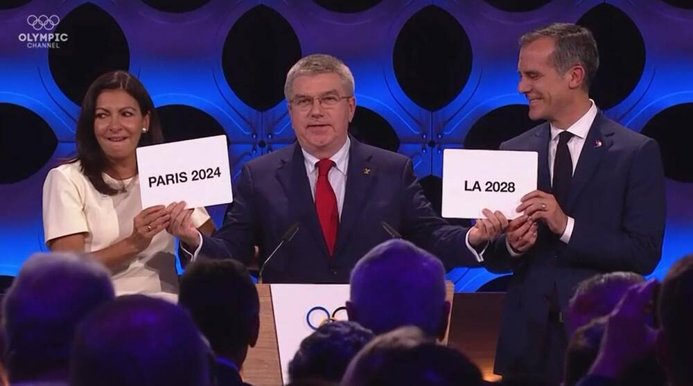Olympics officially awarded to Paris 2024 and Los Angeles