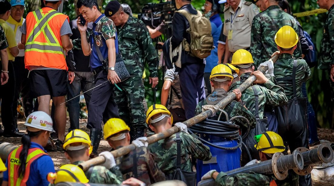 Image result for Thais Are Fighting Water and Oxygen Levels In Cave; One Diver Has Died