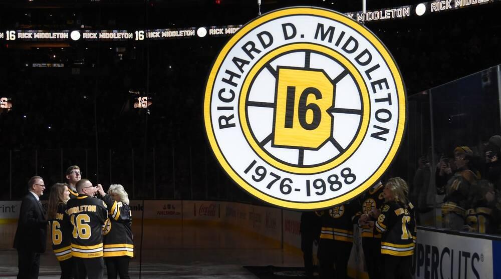 9341c4a4bc72 Boston Bruins retire Rick Middleton s number at TD Garden