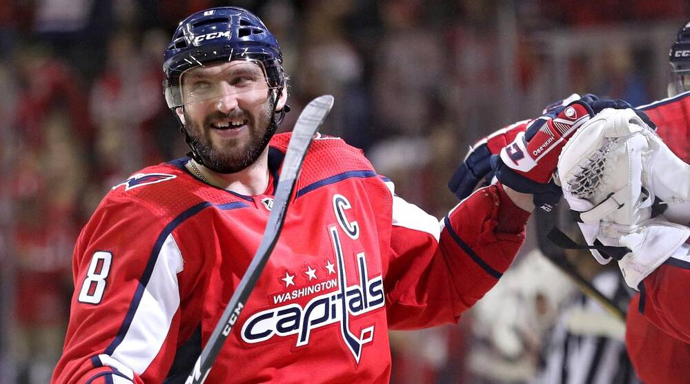 c067c6431 Alex Ovechkin extends point streak to 14 games, Caps beat Sabres ...