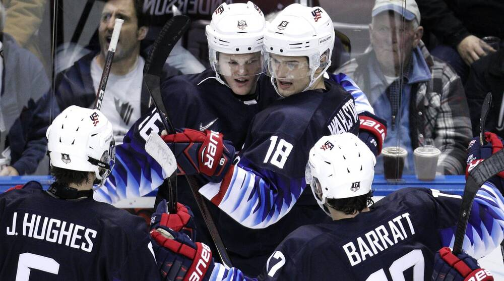 World Junior Championship Us Rallies To Beat Slovakia In Opener