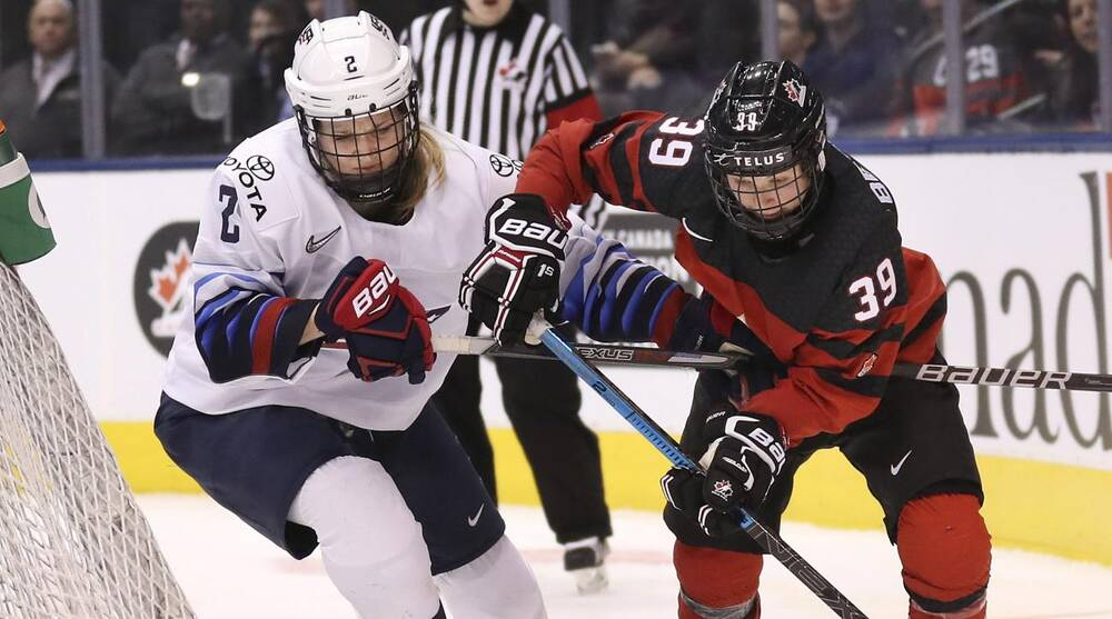 Image result for usa canada women's hockey rivalry