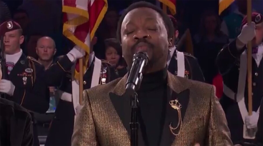 Anthony Hamilton sings national anthem at All-Star Game